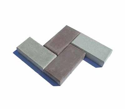 Тротуарная плитка цветная 4,5 см «Кирпич»