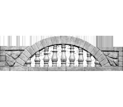 Верхушка «Камин арка прозрачная»